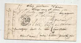 Lettre , 1850 , COUPTRAIN, Mayenne , BLERE , 36 , 2 Scans - Postmark Collection (Covers)