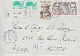 France Lettre Recommandée Année 1983 SP69-840 Pour Rouen - Marcophilie (Lettres)