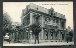 CPA - SAINT NAZAIRE - Le Musée Bibliothèque, Animé - Saint Nazaire