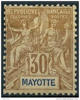 Mayotte (1892) N 9 * (charniere) - Unused Stamps