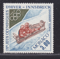MONACO AERIENS N° 83 ** MNH Neuf Sans Charnière, TB (D5777) Sports, Jeux Olympiques D'hiver D'Innsbruck, Bobsleigh - Posta Aerea