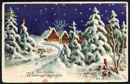 B2110 - Glückwunschkarte - Weihnachten Winterlandschaft - Gel - Sonstige
