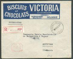 BELGIQUE - CHOCOLAT - Lettre Recommandée De KOEKELBERG 5-12-1932 Vers Amsterdam Avec Illustrations BISCUITS Et CHOCOLATS - Alimentation