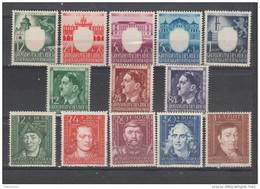 Allemagne ~ Pologne Gouvernement General  1943  N°123 / 135 Neuf * * Série Compléte (13 Valeurs) - General Government