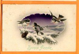HB499, Bonne Année, Oiseaux, Rouge-gorge, HWB 141, Circulée 1914 - Vogels