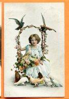 HB529, Pigeon, , Colombe, Petite Fille, Fantaisie, 1259, Circulée 1909 - Vogels