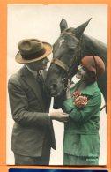 HB546, Femme Et Homme Avec Chapeau, Cheval, Couple, Amag, Fantaisie, Circulée 1928 - Cavalli
