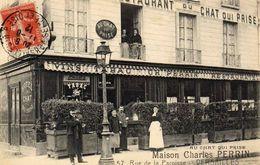 """PARIS  """" AU CHAT QUI PRISE """"  ........... - Cafés, Hôtels, Restaurants"""