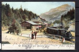 Suisse - Brünig - Gd Buffet De La Gare - Colorisée - Locomotive - BE Berne