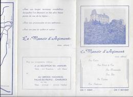 Le Manoir D'Agimont. Givet. Comtes De Chiny. - Dépliants Touristiques