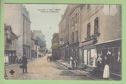 BORT : Place Du Faubourg. Boucher Avec Etal Extérieur. TBE. 3 Scans. Edition MTIL - France