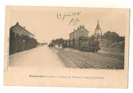 FROMENTINE ARRIVEE DU TRAMWAY A VAPEUR DE CHALLANS LOCOMOTIVE GARE 85 VENDEE - France
