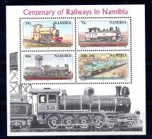 Namibia - 1995 - Railway Centenary Miniature Sheet - MNH - Namibie (1990- ...)