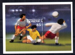Dominica - 1986 - Football World Cup Miniature Sheet - MNH - Dominique (1978-...)