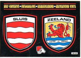 Sluis Zeeland Sticker Kaart - Sluis