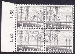 Schweiz 1949: Elektro-Masten  Zu 297 Mi 529 Yv 481 Mit O LUZERN 5.X.51 LUNABA (Zu CHF 20.00) - Suisse