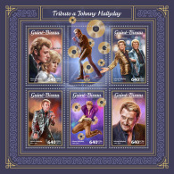 GUINEA BISSAU 2018 MNH** Johnny Hallyday M/S - OFFICIAL ISSUE - DH1805 - Musik