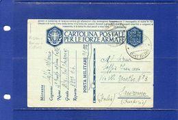 """##(DAN183)-3-1-1942-cartolina Postale  Per Le Forze Armate,annullo """"Risano-Cattaro""""(Montenegro) Per Imperia - Guerra 1939-45"""