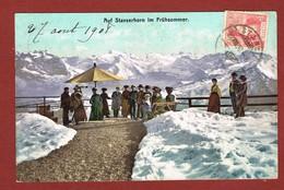 Stanserhorn Im Frühsommer, Animiert, Gelaufen 1908 Verso Stempel Hotel Stanserhorn - NW Nidwalden