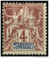 Nouvelle Caledonie (1892) N 43 * (charniere) - Unused Stamps