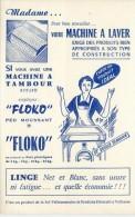 Buvard  Marque  FLOKO  Produit  De  Lavage  Pour  Machine  à  Laver - Buvards, Protège-cahiers Illustrés