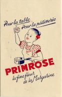 Buvard  Alimentation  PRIMROSE  La Fine Fleur De La Margarine,pour La Table ,pour La Patisserie - Collections, Lots & Séries