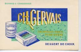 Buvard  Alimentaire  CH . GERVAIS  Fromage  Frais  Pure  Crême, Dessert  De  Choix - Collections, Lots & Series