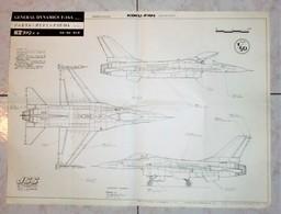 Modellismo - Aereo Disegno - General Dynamics F-16A - Koku-Fan Drawings - Vecchi Documenti