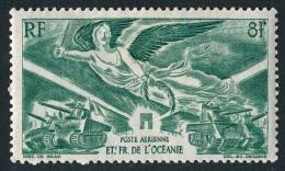 OCEANIE (Ets Fr.) 1946 - Yv. PA 19 *   Cote= 2,50 EUR - Anniversaire De La Victoire  ..Réf.AFA22932 - Posta Aerea