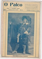 PORTUGAL MAGAZINE - TEATRO - THEATRE - O PALCO , REVISTA TEATRAL Nº6 - LISBOA 1912 - CARICATURE AMARELHE - Bücher, Zeitschriften, Comics