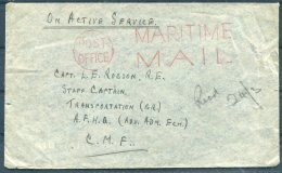 GB WW2 'Post Office Maritime Mail' O.A.S. Cover Radio Officer - Capt Robson R.E. A.F.H.Q. British Army C.M.F. - 1902-1951 (Kings)