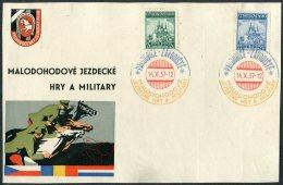 1937 Malodohodove Jezdecke Hry A Military Commemorative Horse Racing Sheet - Czechoslovakia