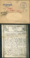 1944 GB 'New Zealand Army P.O. UK' Airgraph + Cover. Deolali, Indian Command -  Hornsea, East Yorkshire. Lowestoft - 1902-1951 (Kings)