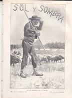 """REVISTA TOROS """"SOL Y SOMBRA"""" 13/2/1902 BIEN CONSERVADA - IMAGENES DE GUSTAVO DORÉ - Magazines & Newspapers"""