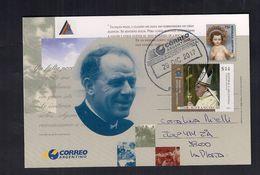 Argentina Entero Postal Religion Circulado Con Sello De SS Papa Francisco - Christendom