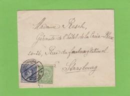 LETTRE POUR STRASBOURG. - 1914-24 Marie-Adelaide