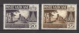 1954 - VATICAN - Scott #185-186 - MNH VF ** - Vatican
