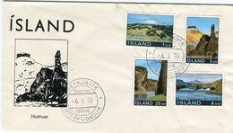 Iceland/Islande/Ijsland/Island FDC 6.I.1970 Landscape Matching Cover - FDC