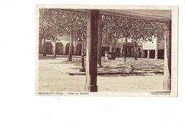Cpa - 81 - REALMONT - Place Du Marché  - HORLOGERIE - PUITS - Cim - Realmont