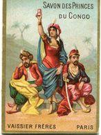CALENDRIER...1888..CHROMOS PUB SAVON DES PRINCE DU CONGO - Calendriers
