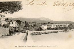 BANDOL - 83 - Environs Toulon - Bord De Mer Quartier Des Bains -attelage Caléche -75689 - Bandol