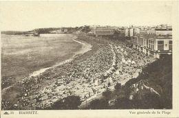 AK / CPA Biarritz Vue Générale De La Plage ~1920 #02 - Biarritz