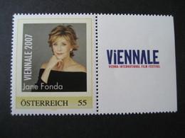 Österreich- Pers.BM** Viennale 2007, Jane Fonda - Private Stamps