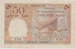 DJIBOUTI, TRESOR PUBLIC, COTE FR. DES SOMALIS, 50 Fr. XF - Djibouti