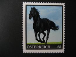 Österreich- Pers.BM 8016999** Schwarzes Pferd Im Galopp - Private Stamps