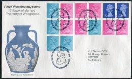 1972 GB Wedgwood Booklet First Day Cover. Philatelic Bureau, Edinburgh. - FDC