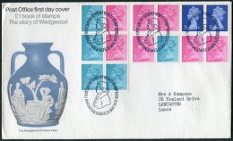 1972 GB Wedgwood Booklet First Day Cover. Barlaston, Staffordshire - FDC