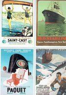 4 Anciennes Pubs - CF Saint-Cast - Red Star Line Havre - P.L.M. St-Gervais-Mt D'Arbois - Cie Navigation Paquet - Boats