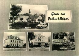 """PUTBUS/RÜGEN, Marktplatz, Rat Der Gemeinde,Filmtheater """"Ernst-Moritz-Arndt"""", Rosen-Cafè, Wartburg,Auto, Ungebr,ca.196 - Allemagne"""