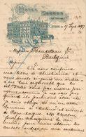 Suède - Lettre Avec Entête 17 Septembre 1897 - Hôtel Eggers - Göteborg - Voir (2 Scans). - Invoices & Commercial Documents